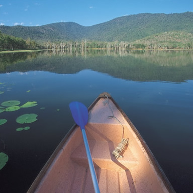 Canoe on the lakes